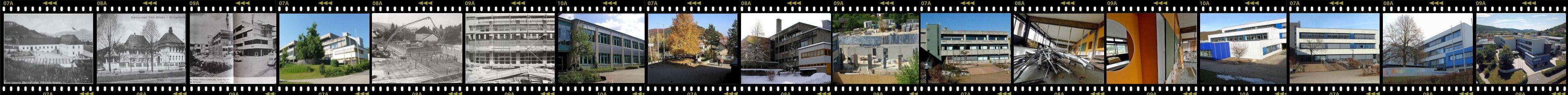 Die Entwicklung des Schulgebäudes als Filmstreifen